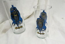 hard to find pair 1999 DC comics (2) american made batman glass tumblers -unused