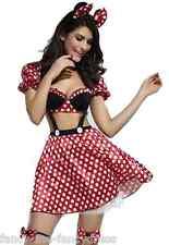 Adulto Mujer 4 Piezas Señorita Minnie Mouse Club Sexy Disfraz