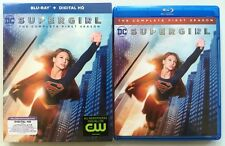 DC COMICS SUPERGIRL THE COMPLETE FIRST SEASON BLU RAY 3 DISC SET + SLIPCOVER