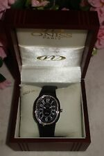 Oniss Paris Ceramic Watch Saphire Crystal Swiss Movement black/silver new $795