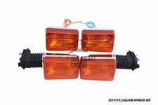 Set of square turn signal light, winker for Honda cub C50, C70, C90 from 1980