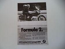 advertising Pubblicità 1979 MOTO BMW SERIE R100 R 100