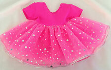 bright pink sparkly romantic ballet dress to fit baby born/annabell or similar