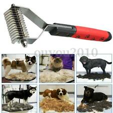 Pet Cat Dog Hair Fur Shedding Trimmer Grooming Dematting Rake Comb Brush Tool