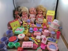 Vintage Mattel Cherry Merry Muffin 4 Dolls Playsets accessories 80's toy lot