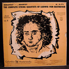 BEETHOVEN-Complete Quartets 7-11 Budapest String Quartet-4 LP BOX-6 Eye #SL-173