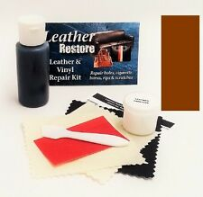 Air Dry Leather & Vinyl Repair Kit MEDIUM BROWN Color Repair Recolor & Restore
