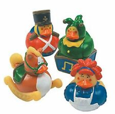 Set of 4 Vintage Toy Rubber Ducks Duckys Duckies #48056 Jack In The Box Horse