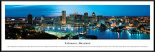 Baltimore, Maryland Inner Harbor | Professionally Framed Panorama Poster