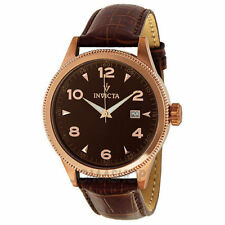 Invicta 12199 men watch - leather bracelet brown
