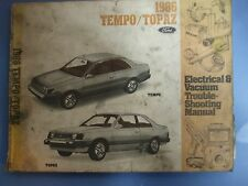 1986 Ford Tempo,Mercury Topaz, Electrical Vacuum Manual