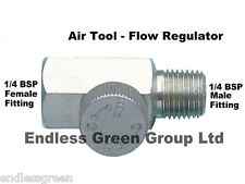 AIR TOOL FLOW CONTROL REGULATOR -  air flow from line to tool 1/4 BSP  30038