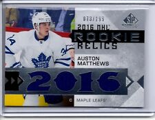 2016-17 SP Game Used AUSTON MATTHEWS RC NHL Rookie Relics 4x Jersey  #D 073/199