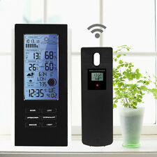 Digital LCD Indoor Outdoor Wireless Weather Station +Sensor Calendar Thermometer
