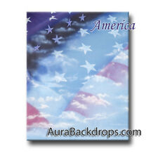 America HAND PAINTED BACKDROP 10'X20'