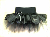 HALLOWEEN BALL PARTY TUTUS - FANCY DRESS COSTUME OUTFIT - BLACK MINI SKIRT GOTH