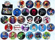 DC COMICS SUPERHEROES SET 27 PINS BUTTONS BATMAN HARLEY QUINN JOKER BUTTON PIN +