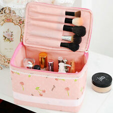 New Bow Organizer Storage Bag Travel Make Up Pink Cherry Comestic Accessory Case