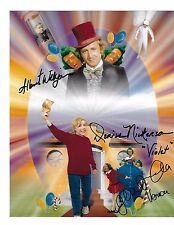 Willy Wonka & The Chocolate Factory  8x10 Poster Photo Signed by 3!!! RARE! G885