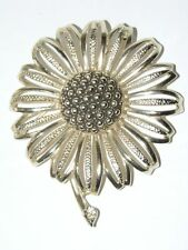 Vintage Sarah Coventry Gold Tone Sunflower Daisy Mae 1960 A14