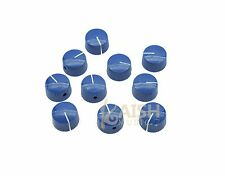 10pcs Blue Vintage Style Barrel Guitar AMP Knob Amplifier Knobs fits Fender AMP