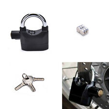Anti-theft Padlock Sound Alarm Lock Security for Bike Bicycle MotorcycleGarageFG