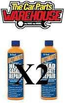TWO ULTIMATE K-SEAL PERMANENT HEAD GASKET REPAIR RUST PROTECTION 472ML KSEAL x2