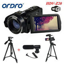 "Ordro 24MP 3.0"" LCD Digital Video Cámara DV Full HD 1080P Con Trípode"