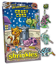 CRAZY CAT CATZ KITTEN EMBELLISHMENTS SHRINKLES SHRINK ART BUMPER SET & PENCILS
