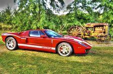 FORD GT Metall Schild 44,5cm rot  Garage Racing Le Mans USA Werkstatt Blech V8