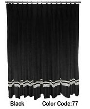 Saaria Pinch Pleated Curtains With Silver Stripe Home Stage Backdrops 22'Wx10'H
