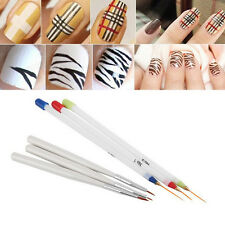 New 6pcs Acrylic French Nail Art Pen Brush Painting Drawing Liner Tools Set