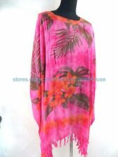 US SELLER- floral plus size kaftan beach casual top dress cover up swimwear