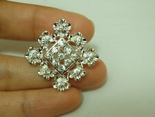 2 large diamante buttons square rhinestone crystal embellishment sewing 21 mm-11