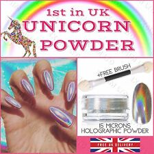15 μm Holographic Powder Unicorn 0.5g/pot Rainbow Chrome Nail Pigment Nails UK