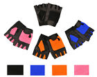 Weight Lifting Leather Padded Training Gym Exercise Cycling Wheelchair Gloves