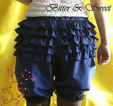 Navy bloomers XS-S-M-L-Steampunk-Cabaret-Victorian-Burlesque-Rodeo-Circus-Pirate