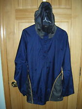 Mens BIKE PERFORMANCE LS Vented Polyester Blend Lined Hoodie Rain Jacket Sz M