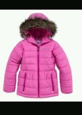 AUTHENTIC COLUMBIA HEATER HUNNY HOODED JACKET GIRLS 10-12 Fuchsia Pink BNWT