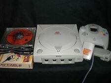 Sega Dreamcast System Console Complete Accessories 4 NHL 2K NBA 2K1 Rally NFL QB