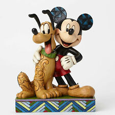 "JIM SHORE - DISNEY TRADITIONS / FEATURING MICKEY AND PLUTO / ""BEST PALS"" / NIB"