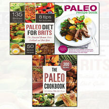 Paleo Cookbook,Paleo Diet for Brits,Paleo Diet Made Easy 3 Books Collection Set