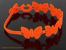 Genuine Italian Made Cruciani Bracelet- BUTTERFLY-FREEDOM-Fluorescent Orange