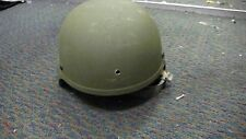 US ARMY WARRIOR HELMET SDS ACH BALLISTIC KEVLAR HELMET CHIN STRAP/PAD LARGE USED
