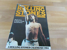 ROLLING STONES 1984 CALENDAR has some Great Images