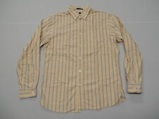 Lands' End Men's Sail Rigger Oxford Tailored Fit Shirt Yellow Size Medium New
