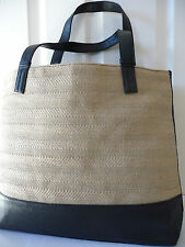 Spacious ESTEE LAUDER Hessian+Moc Croc Shopper Tote Beach Bag NEW*Black+Beige