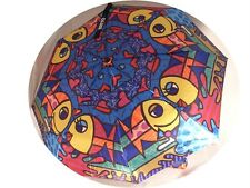 Artist Romero Britto 'Deeply In Love' Kissing Fish Umbrella  #330007  NWT!