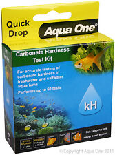 Aqua One A1-92057 Quick Drop Carbonate Hardness KH Test Kit Accuracy +1dKH