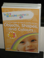 Baby Brainworks Objects, Shapes & Colours (DVD) Captivating Images Ages 3 Months